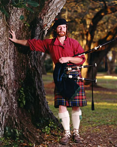 Texas bagpiper for all occassions